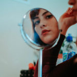 woman mirror good looking